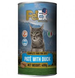 PETEX שימורי מזון מלא לחתולים במרקם פטה עם בשר ברווז ללא דגנים וללא גלוטן