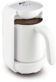 """Selmor מכשיר להכנת קפה טורקי """"הפינגאן החכם""""  דגם 91 לבן"""