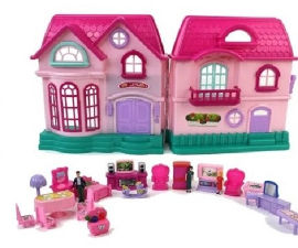 YKI MY SWEET HOME בית בובות גדול עם אביזרים
