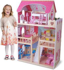 באלי טוי בית בובות מעץ  קורל