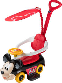 Disney בימבה מוסיקלית + מוט דחיפה מיקי מאוס 2 ב-1 - דיסני