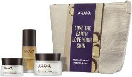 AHAVA NATURALLY BEAUTIFULL DAY & NIGHT סט קרם יום + תמצית טיפולית + קרם עיניים
