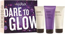 AHAVA DARE TO GLOW סט תחליב גוף + קרם ידיים + קרם רגליים