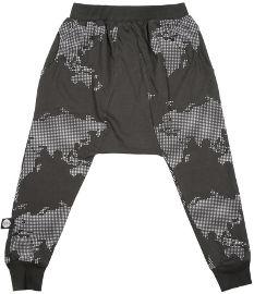 MAYAYA מכנסי באגי משולש יוניסקס גופרית הדפס מפה 18-24 חודשים