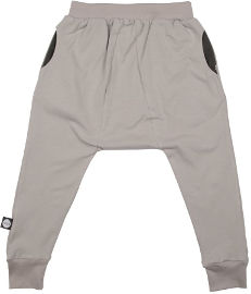 MAYAYA מכנסי באגי משולש יוניסקס אפור עם פאטצ ברגל אחורית 12-18 חודשים