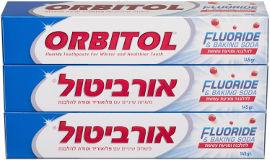 אורביטול משחת שיניים עם פלואוריד וסודה להלבנה