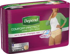 דיפנד Comfort-Protect תחתוני לייקרה סופגים לבריחת שתן, נשים M, מגה פק