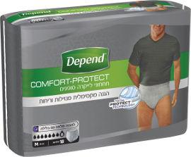 דיפנד תחתון סופג לגברים, אפור, מידה 38-48 M