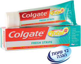 קולגייט טוטאל משחת שיניים פסים מרעננים