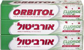 אורביטול משחת שיניים עם פלואוריד ומנטה