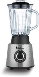 Selmor בלנדר 1.5 ליטר נירוסטה עם כוס זכוכית ושישה להבים כותשי קרח 600W דגם 512