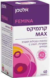 אלטמן קרנמיקס MAX תמצית חמוציות פטנטית, ויטמין C וצמחים