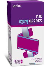 מגה גלופלקס גלוקוזאמין וכונדרואיטין בתוספת MSN