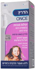 הדרין ONCE תרסיס משמיד כינים וביצי כינים לשיער ארוך ו/או מתולתל