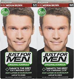 ג'סט פור מן שמפו לצביעת שיער לגברים