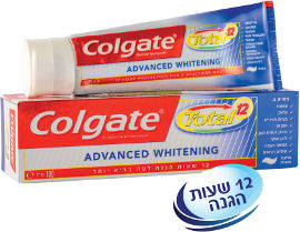 קולגייט טוטל משחת שיניים הלבנה