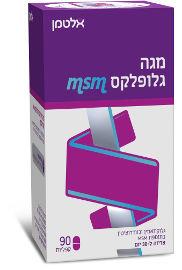 מגה גלופלקס גלוקוזאמין וכונדרואיטין בתוספת MSM