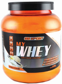 G.S ספורט MY WHEY אבקת חלבון מתקדם בטעם וניל