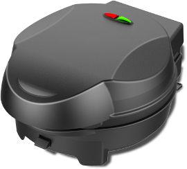Selmor מכשיר עם ארבע פלטות מתחלפות דגם 183 וופל בלגי כנאפה פופקייק קאפקייק שחור
