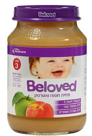 BELOVED מחית תפוח ואפרסק שלב 3