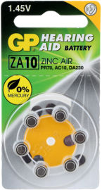 GP סוללות למכשיר שמיעה ZA-10