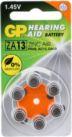 GP סוללות למכשיר שמיעה ZA-13