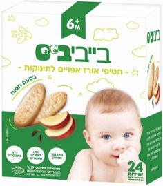 בייבי ביס חטיף אורז אפוי לתינוקות בטעם תפוח