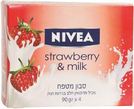 NIVEA סבון מטפח מכיל פרוטאין בניחוח תות