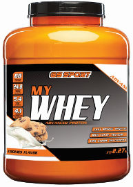 G.S ספורט MY WHEY אבקת חלבון מתקדם בטעם קרם עוגיות