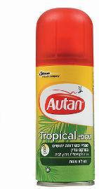 אוטן תרסיס יבש דוחה יתושים פעיל 8 שעות