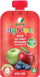חטיפטף מחית תפוח עץ ואוכמניות