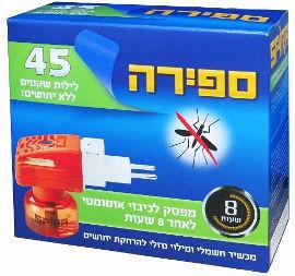 ספירה מכשיר חשמלי ומילוי נוזלי להרחקת יתושים