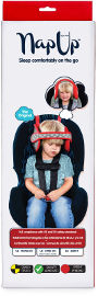 NapUp תומך ראש לילדים הנרדמים ברכב - אדום