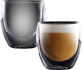 Food Appeal זוג כוסות דופן כפולה - דגם קולומביה