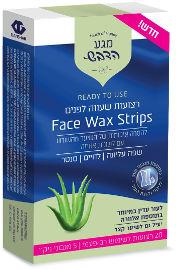 מגע הדבש רצועות שעווה לפנים שפה עליונה / לחיים / סנטר לעור עדין במיוחד בתוספת אלוורה