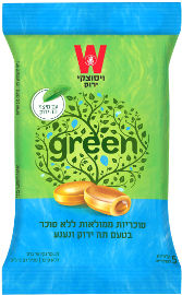 ויסוצקי סוכריות ממלואות ללא סוכר בטעם תה ירוק ונענע