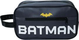 גיבורי על תיק רחצה באטמן אפור סמל גדול