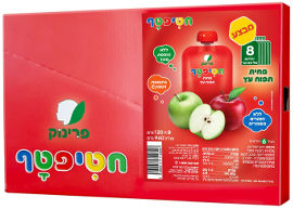 חטיפטף מחית תפוח עץ מארז