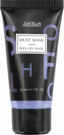 Soft Touch PEEL OF MASK מסכה מתקלפת להבהרה ומראה עור אחיד - סגול
