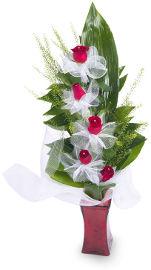 פרחי עירית מדרגות לאהבה בכלי זכוכית