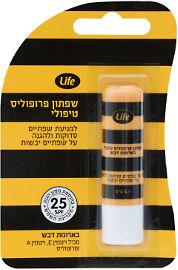 Life שפתון פרופוליס טיפולי בארומת דבש