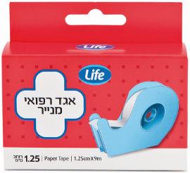"""Life אגד רפואי מנייר 1.25 ס""""מ*9 מטר"""