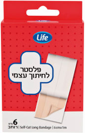"Life פלסטר לחיתוך עצמי 6 ס""מ*1 מטר"