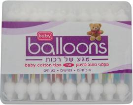 BALLOONS מקלוני כותנה לתינוק