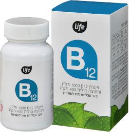 לייף ויטמין B12 עם חומצה פולית