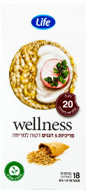 Life Wellness פריכיות 5 דגנים דקות למריחה