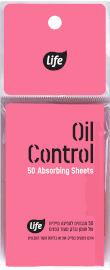 Life OIL CONTROL מגבונים לספיגת שומן מעורב