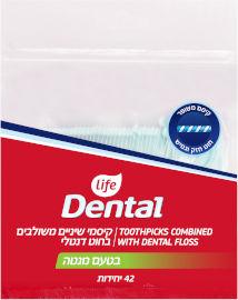לייף Dental קיסם משולב מנטה משופר