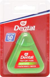 Life Dental חוט דנטלי עם שעווה בתוספת פלואוריד בטעם מנטה