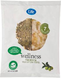 LIFE WELLNESS פריכיות אורז בתיבול שמן זית וזעתר